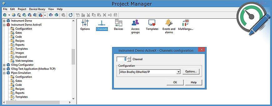Winlog Pro: SCADA/HMI Multi-language Software Modbus RTU/TCP, KNX, OPC